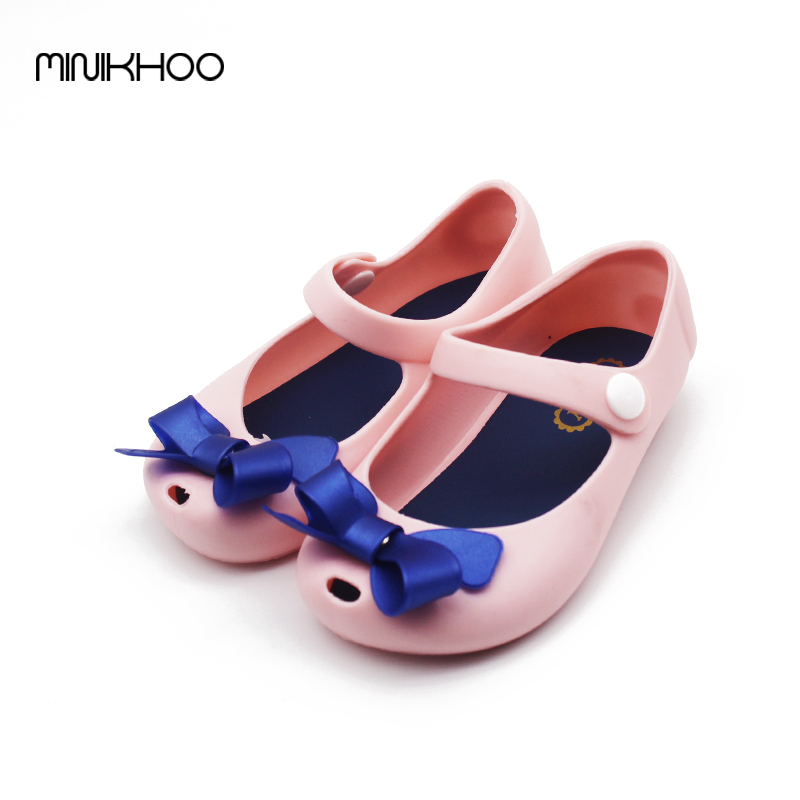 New Mini Melissa Little Butterfly Jelly Shoes Butterfly Knot Soft Bottom Fish Head Girls Sandals Baby Shoes 4 Color Melissa