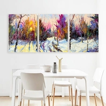 Laeacco Canvas Calligraphy Painting 3 Panel Watercolor  Posters and Prints Abstract Wall Artwork Living Room Home Decor