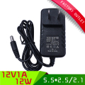 1pcs universal switching ac dc power supply adapter 12v 1a 1000mA adaptor US plug 5.5*2.1mm connector