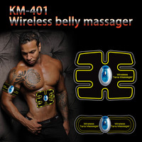 Wireless Abdominal Muscle Trainer Smart EMS Electric Pulse Massager TENS Electrotherapy Back Pain Relief ABS Stimulator Massage