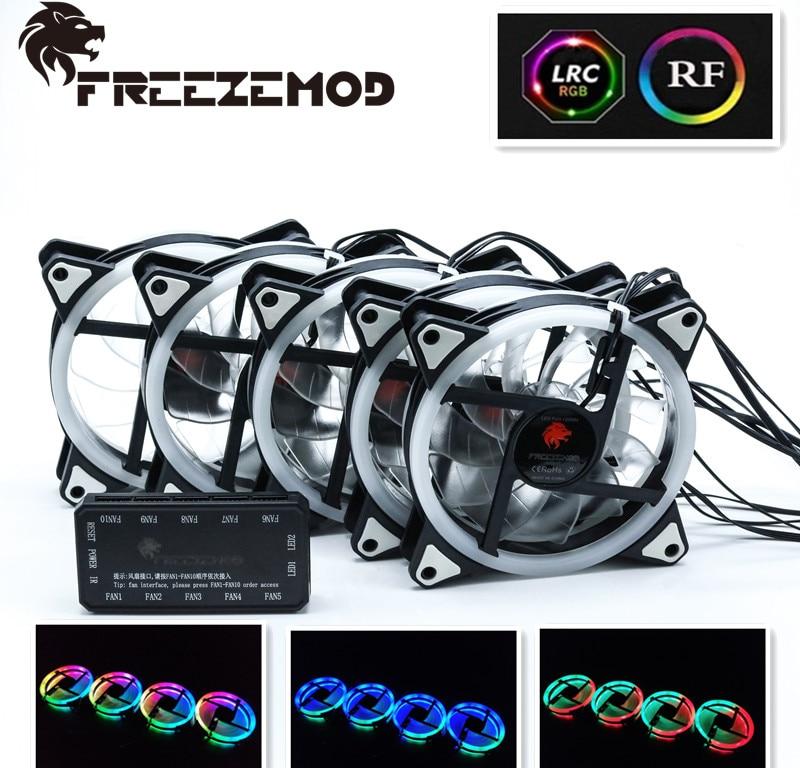 5pcs 12V Fan DC 120mm LED computer fan RGB rainbow fan five fan RBW CH 5