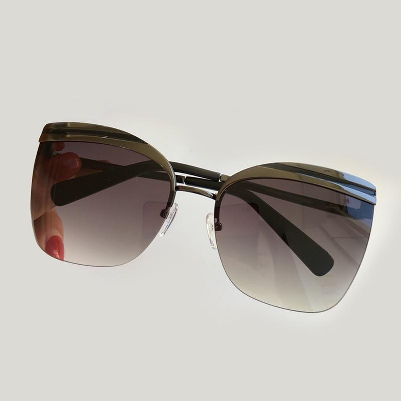 Big Size Frame Women Rimless Sunglasses 2019 Fashion Luxury Brand Designer Polarized Sunglasses Gradient Lens Sun Glasses