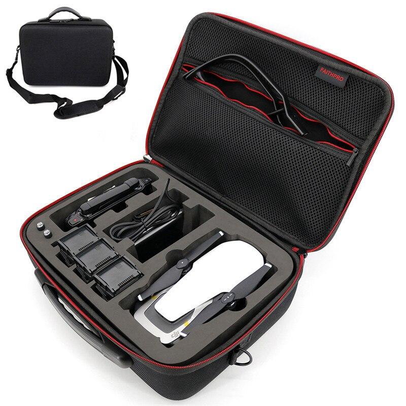Para DJI Mavic Drones bolso de mano llevar funda EVA Hard shellPortable Spark box para Dron DJI y accesorios (4 baterías) bolsas de almacenamiento