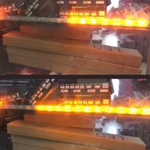 2pcs 12V High Power 6W Bendable  Waterproof Flexible DRL Daytime Running Light Fog Warning Lamp