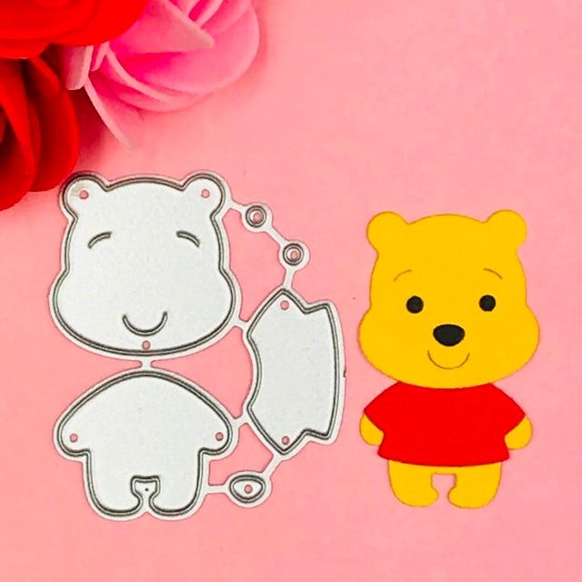 Urso animais De Corte Morre Stencils para Scrapbooking DIY/álbum de fotos Decorativo Embossing DIY Cartões de Papel
