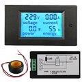 AC 20A Estrenar 4 en 1 Energía LED Digital Del Amperímetro Del Voltímetro Del Metro Del Probador Del Monitor de Energía