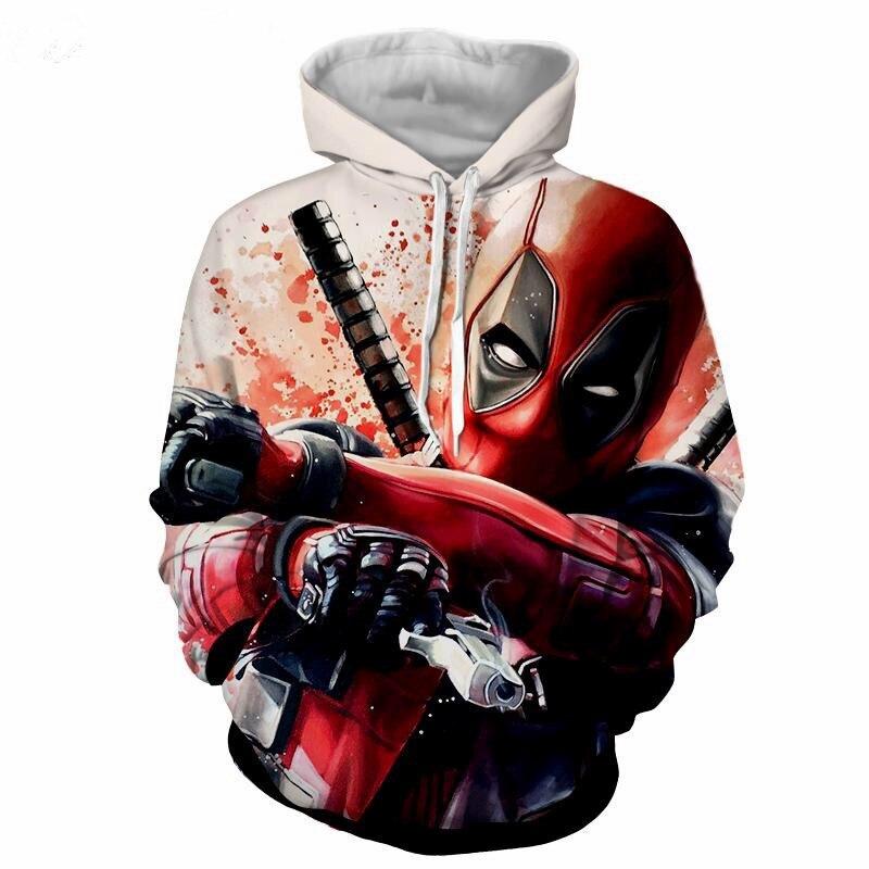 Deadpool 2 3D Print Avengers 3 Superhero Movie Iron Man Infinite War Cos Marvel Movie Super Hero Hood  Zip Loose Hoodie