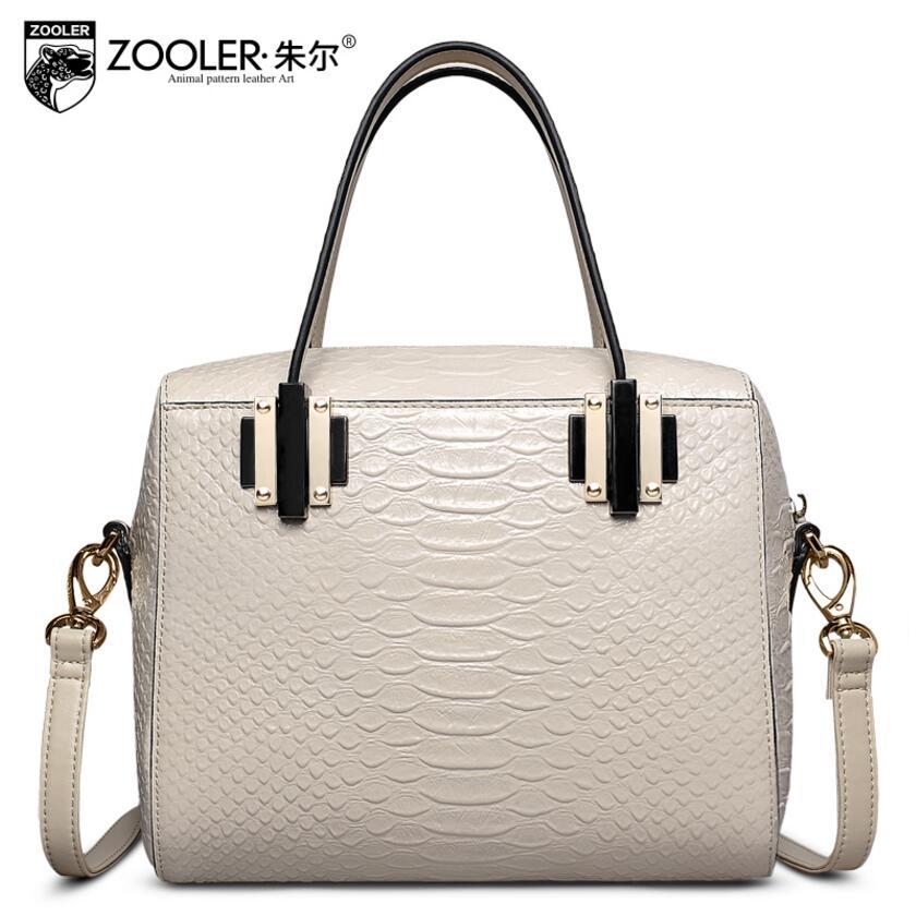 2017 nueva zooler cuero genuino bolso de las mujeres marcas de moda serpentina b