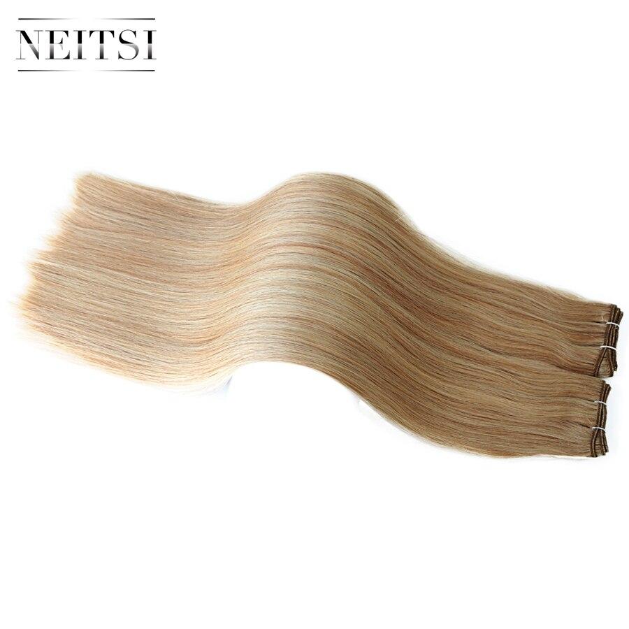 Neitsi Straight Brazilian Remy Human Hair Extensions 24 60 cm 100g pc P14 24 P18 613