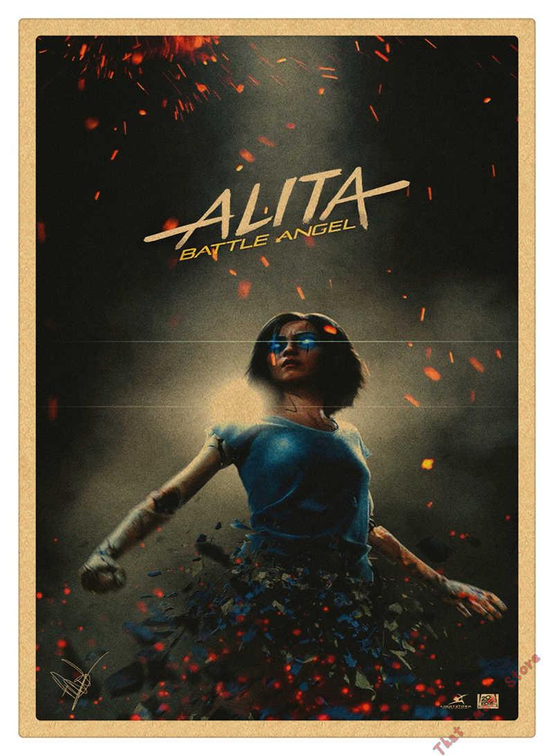 Hot Fighting Angel Alita Movie Poster 2019 Poster Art Kraft Paper Poster Home Room Wall Printing Decor Aliexpress