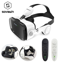 משקפיים 3D סטריאו BOBOVR Z4 המקורי Google תיבת קרטון קסדת משקפי מגן אוזניות מציאות מדומה VR עבור 4-6 בובו 'טלפון