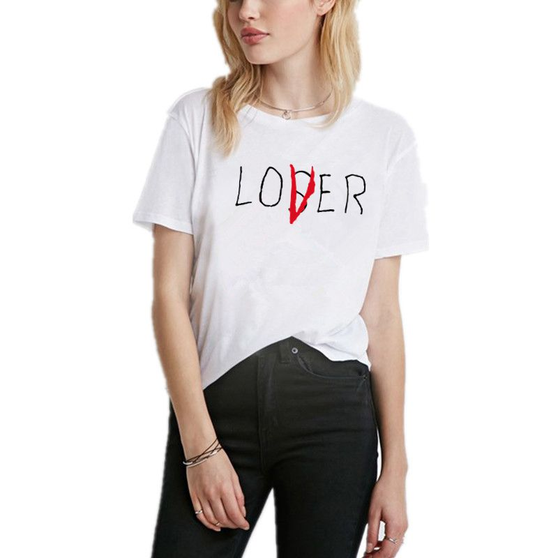 Letter Prin Funny T shirt Women Casual Summer Femme Hipster T-Shirt 2018 Short Sleeve Ladies Tees Tops