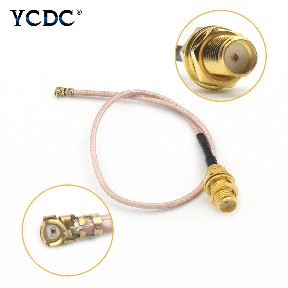 1 2 4 PCS SMA Female To IPX U FL Connector Adapter Antenna WiFi Router RG178 Pigtail Cable 21cm Extension Cord Cable in Connectors from Lights Lighting