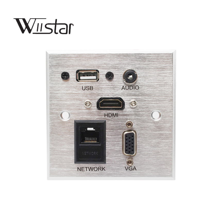 цены Wall Socket \ HD HDMI \ VGA USB NETWORK RJ45 Audio Video Information Outlet Panel /Multimedia Home Hotel Rooms KTV Wall Socket