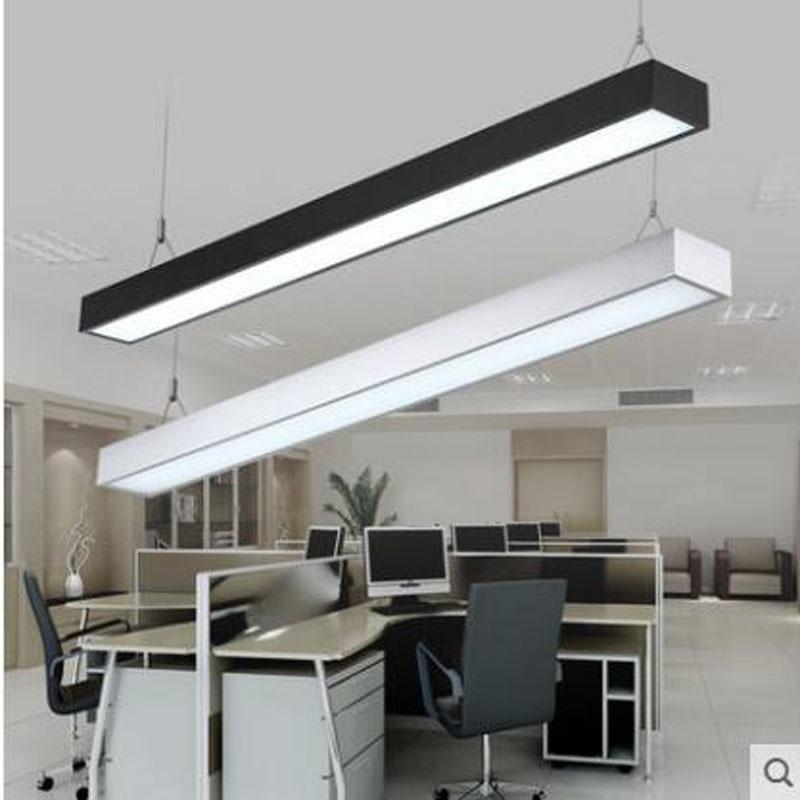 Us 57 2 56 Off Led Strip Light Office Chandelier Modern Fluorescent Lamp Long Aluminum Right Angle Lighting Hanging Line In