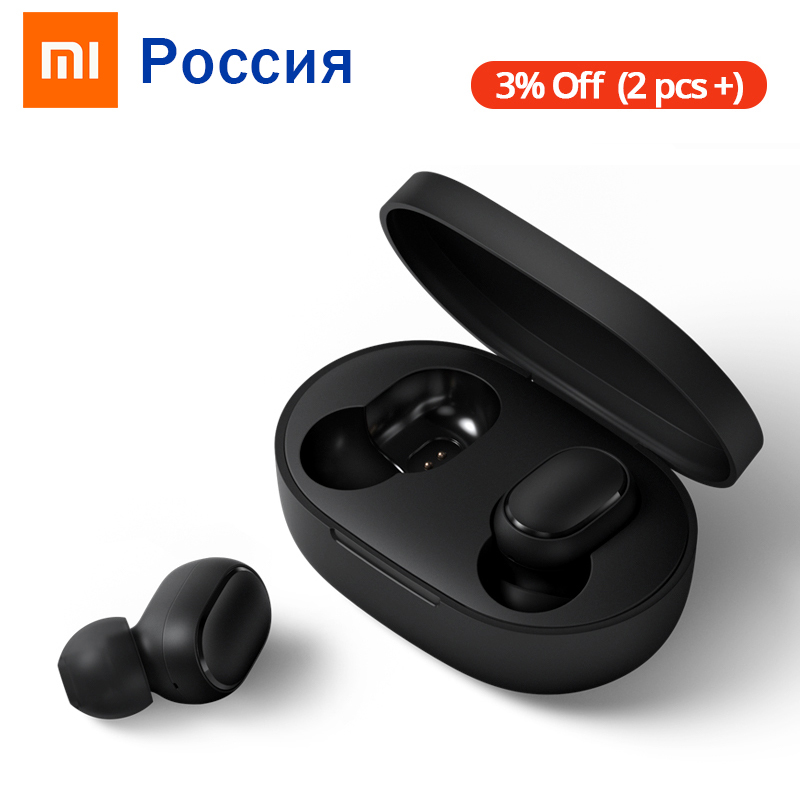 Xiaomi Redmi AirDots Wireless Bluetooth 5.0 Charging Earphone In-Ear Stereo Bass Earphones With Mic Handsfree Earbuds AI Control