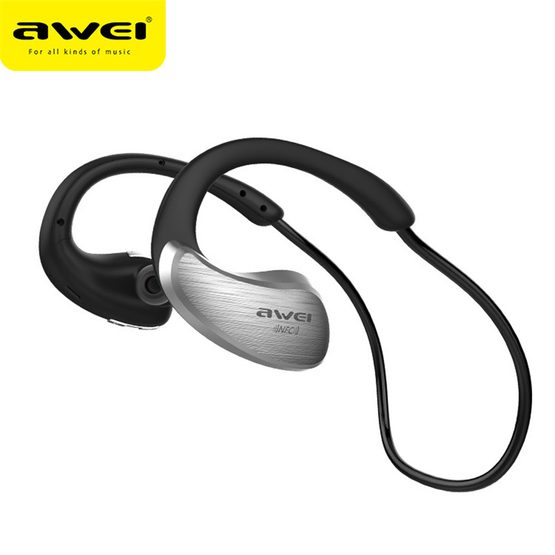Newest Awei A885BL NFC Bluetooth Earphones Sport IPX4 Waterproof Wireless Earphone With Mic Stereo Earbuds In Ear For iPhone