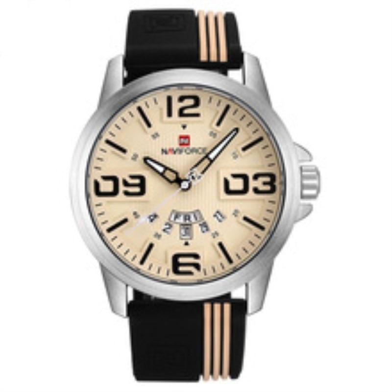 Luxury Militar Watch Men Sport Mens Watches Top Brand Military Army Business Rubber Strap Quartz Male Clock NAVIFORCE Relogio цена и фото