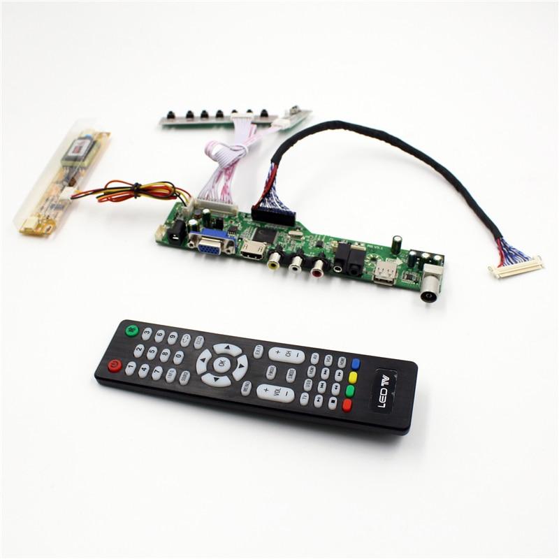 M6V5 LCD TV contrôleur carte support TV AV VGA Audio USB HDMI pour 20 pouces lcd panneau 1600x900 LTM200KT03 M200RW01 V1 M200O1-L02