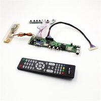 M6V5 LCD TV controller board support TV AV VGA Audio USB HDMI for 20 inch lcd panel 1600x900 LTM200KT03 M200RW01 V1 M200O1 L02