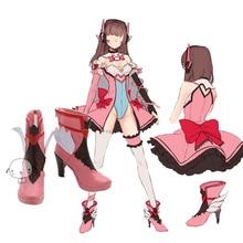 magic girl D.va pink shoes Cosplay Custom made dva cosplay