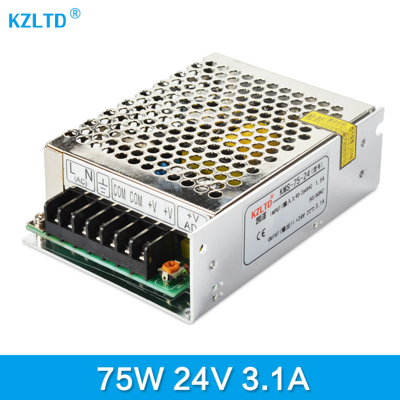 LED Switching Power Supply 24V 75W AC-DC 220V 110V to 24V Transformer Switching Power Adapter for Radio Monitor High Efficiency meanwell 24v 75w ul certificated nes series switching power supply 85 264v ac to 24v dc