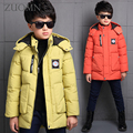 Мальчики куртки Дети зимой новая мода ультра легкий дети вниз пальто детей вниз парки пуховик для Бор Черная Одежда Y279