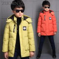 Boys jacket Kids winter new fashion ultra light children down coat children down parkas down jacket for Bor Black Clothes Y279