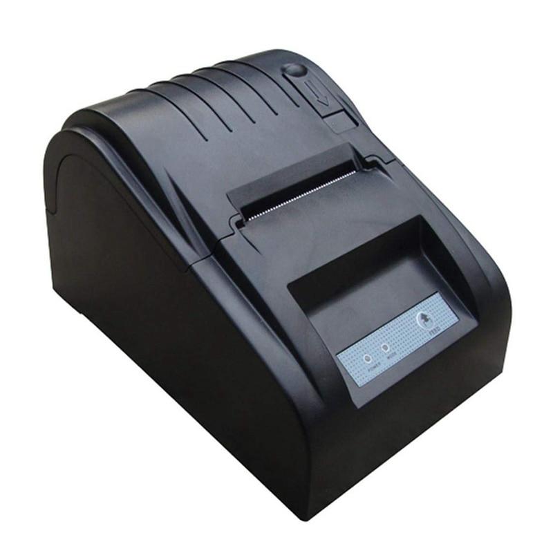 ZJ-5890T 58mm Thermal Printer 58mm Thermal Receipt Printer 58mm USB POS Printer US Plug(Black) 58mm