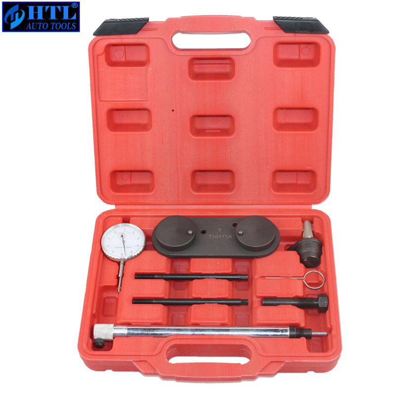 T10171A Engine Timing Tool Kit  VW AUDI 1.4/1.6FSi 1.4 TSi 1.2TFSi/FSi Inc Dial Gauge Tdc & Locking Tools hot sale professional diesel engine timing setting tool for vag 2 7
