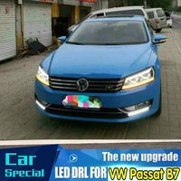 2 Set Car LED DRL For VW Passat B7 2012 2013 2014 2015 Daytime Running Lights Daylight Fog Lamp Cover