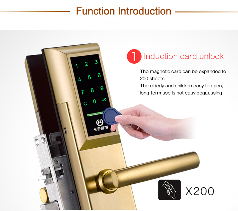 Password Intelligent Lock Anti theft Door Special Electronic Smart Card Locks Gold 304 Stainless Door Lock Free Shipping 1068-in Locks from Home Improvement ...  sc 1 st  AliExpress.com & Password Intelligent Lock Anti theft Door Special Electronic Smart ...