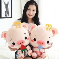 Cartoon 45cm Large Plush Pig Toy Kids Sleeping Cushion Stuffed Pillow Pig Doll Baby Doll Birthday Gift For Kids Toy With Blanket