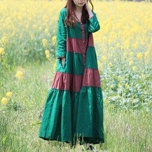 Autumn Dress Cotton Long