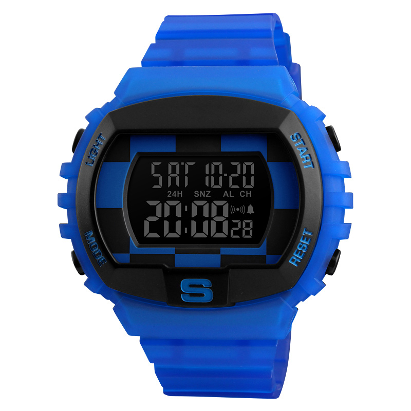 <font><b>SKMEI</b></font> <font><b>1304</b></font> Men's Outdoor Creative Sport Wristwatch Military Electronic Digital Watch Male Waterproof Exquisite jelly Clock Hours image