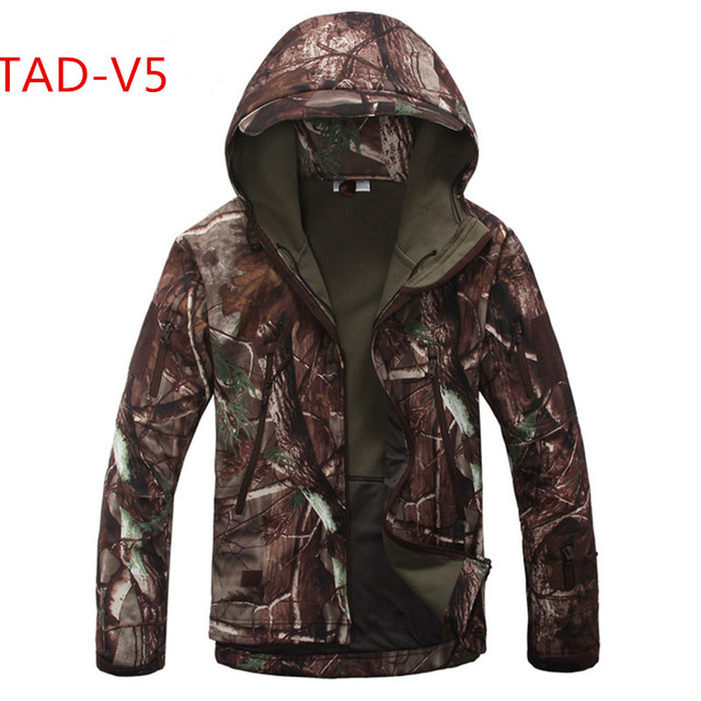Высокое качество скрытень Акула кожу мягкой В виде ракушки TAD V 5.0 Военная Униформа тактическая куртка Водонепроницаемый ветрозащитный армия куртка-пилот Костюмы s