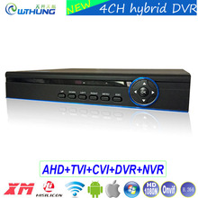 Hybrid Coxail DVR 4 Channel 1080P/1080N/960P/720P/960H 5-in-1 mode NVR TVI CVI AHD DVR support P2P Onvif H.264 for CCTV Camera