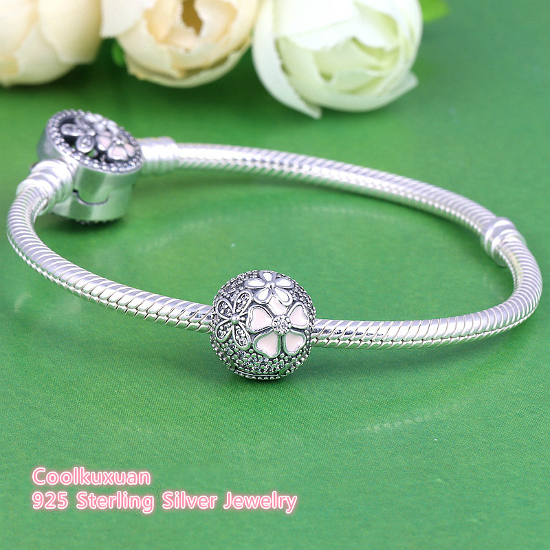 4ba3c9887d99c US $15.03 19% OFF|Fits Original Pandora Bracelets 925 Sterling Silver  Poetic Blooms Mixed Enamels & Clear CZ Clip Charm 2018 Spring Diy Jewelry  -in ...