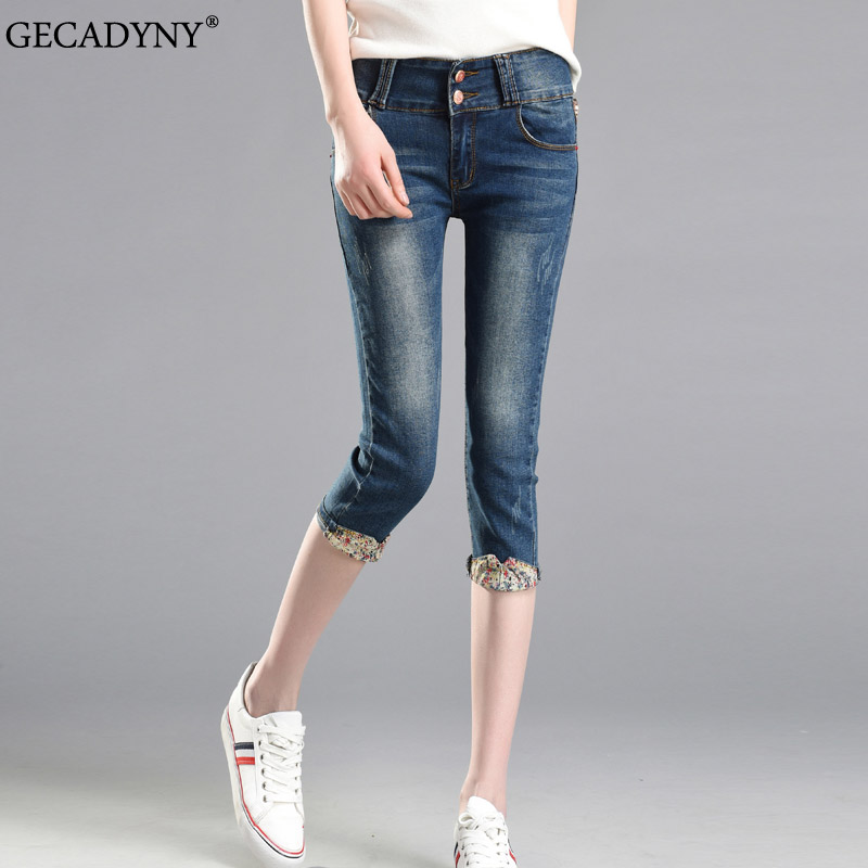 Popular Denim Capris for Women Knee Length-Buy Cheap Denim Capris ...