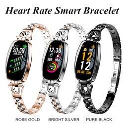 Delle donne di trasporto Digitale Smartwatch Nuovo di Lusso H8 Intelligente Orologio Da Polso Impermeabile Intelligente Della Vigilanza Del Cuore Reat Pedometro Per iPhone Android