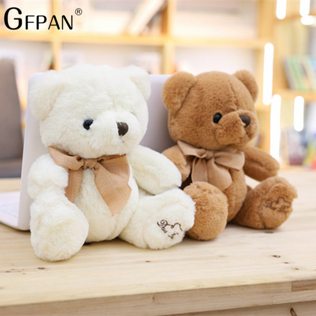 1PC Super Soft New Fashion Lovely Teddy Bear Plush& Stuffed Cute Bear With Bow Birthday&Party&Wedding gift Baby Dolls For Kids Uncategorized Decoration Kid's Toys Stuffed & Plush Toys Toys