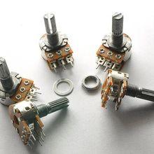 5 шт. WH148 50K B50K 6 футов 6-контактный вал WH148 усилитель двойной стерео потенциометр