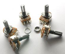 5 шт., усилитель WH148 50K B50K 6 футов, 6-контактный вал WH148, двойной стереопотенциометр, бесплатная доставка