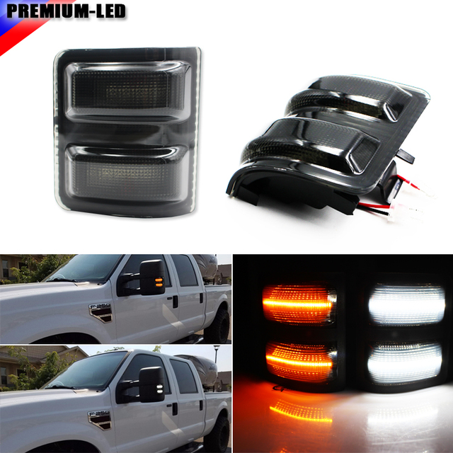 Ijdm Smoked Lens White Amber Switchback Led Side Mirror Marker Lights For
