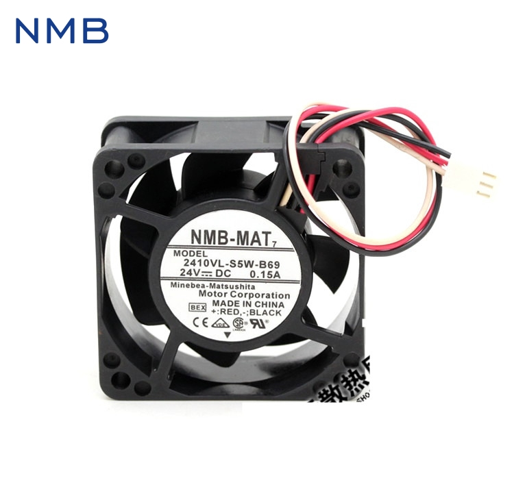 New and Original 2410VL-S5W-B69 6CM 6025 24V 0.15A waterproof three-wire inverter fan for NMB 60*60*25mm new original bp31 00052a b6025l12d1 three wire projector fan