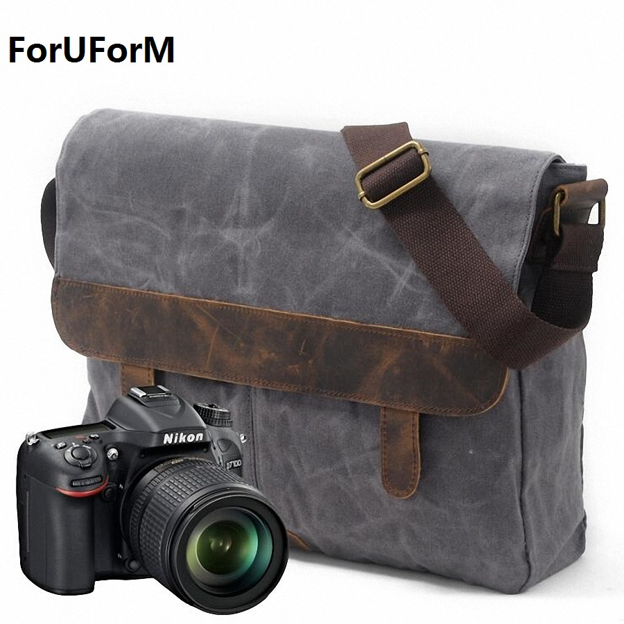 DSLR Camera Bag Waterproof canvas Shoulder Bag Camera Case for Canon Nikon Sony FujiFilm Olympus Panasonic DSLR Cameras LI-1860 купить