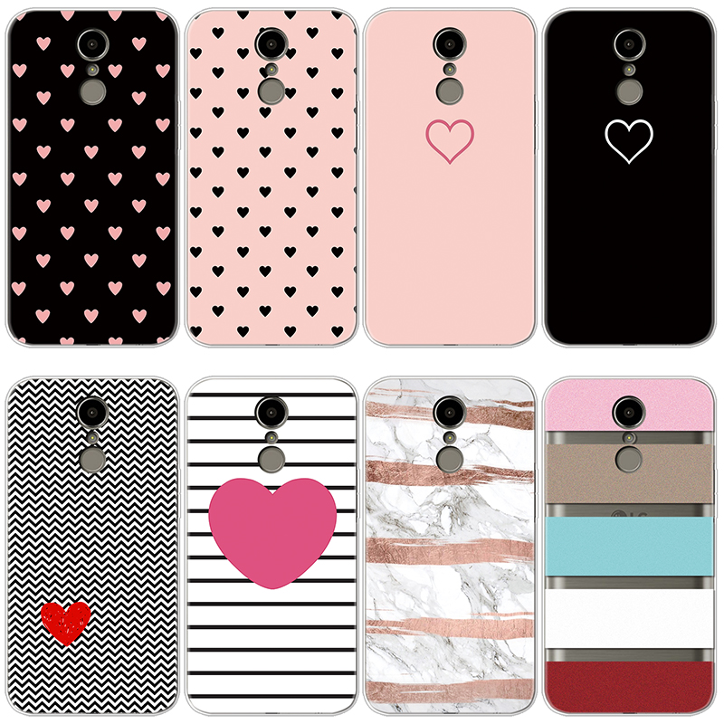 Cover For Fundas LG K10 2017 Case Silicone Soft TPU Heart Lover Capa For LG K10 2017 M250 M250N X400 Phone Case Luxury Protect
