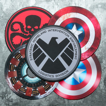 30cm Avengers Waterproof Circle Round Lockrand Gaming Working Personalized Mouse Mice Pad Mat