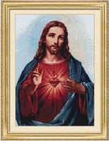 New Mosaic Full Square Diamond Embroidery Beads Religious Jesus Christ Diamond Cross Stitch Sets Famous Work