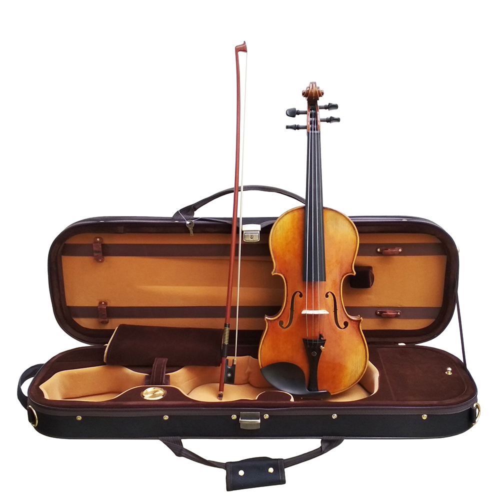 Copy Antonio Stradivari Cremonese 1716 Model Violin FPVN01 with Canvas Case and Brazil Bow handmade new solid maple wood brown acoustic violin violino 4 4 electric violin case bow included